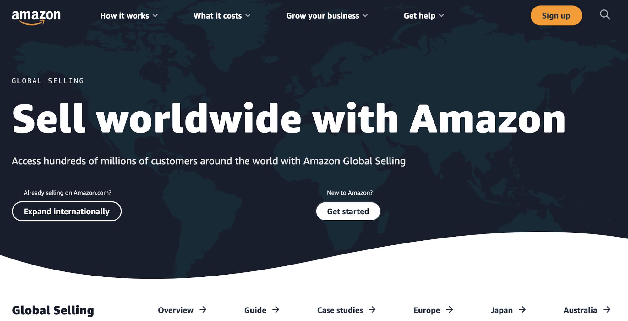 Amazon Global Selling Hompage